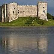 Carew Castle Reflections Art Print