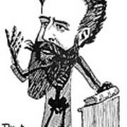 Caricature Of Roentgen And X-rays Art Print by