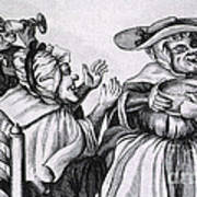 Caricature Of Three Alcoholics, 1773 Art Print