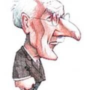 Carl Jung, Caricature Art Print