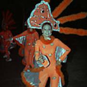 Carnaval De Ponce In Orange Art Print
