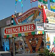 Carnival Festival Fun Fair French Fries Food Stand Art Print by Kathy Fornal