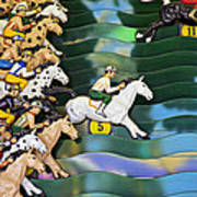 Carnival Horse Race Game Art Print by Garry Gay