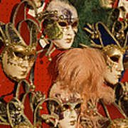 Carnival Masks For Sale Art Print by Jim Richardson