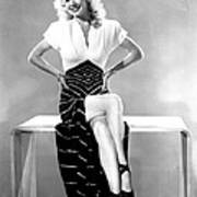 Carole Landis, Mid 1940s Art Print