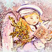 Caroling Angel Art Print