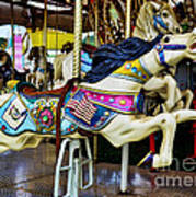 Carousel - Horse - Jumping Art Print