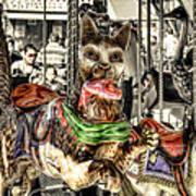 Carousel Cat Art Print
