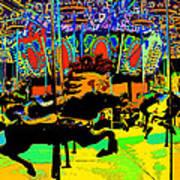 Carousel Colors Art Print