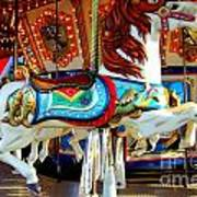 Carousel Horse With Fish Art Print