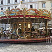 Carousel In Florence Art Print
