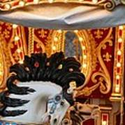 Carousel In Motion Art Print