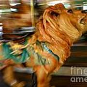 Carousel Lion Art Print