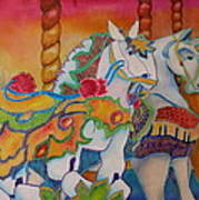 Carousel Of Horses Art Print