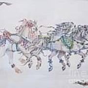 Carousel Parade Art Print