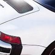 Carrera Porsche White Backend  Art Print
