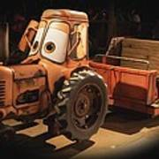 Cars Land Cow Tractor Art Print