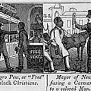 Cartoons Depicting The Racial Art Print
