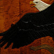 Carved Eagle Art Print