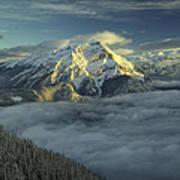 Cascade Mountain Banff Art Print