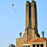 Casino Building And Kite Art Print