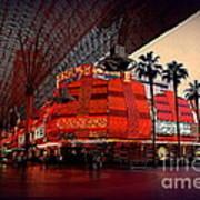 Casino Fremont Street Las Vegas Art Print by Susanne Van Hulst