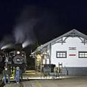 Cass Station At Night Art Print