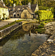 Castle Combe Bridgeside Art Print