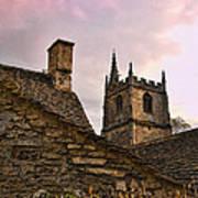 Castle Combe Medieval Church Art Print