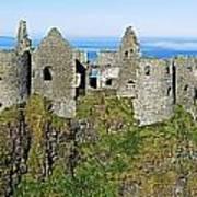 Castle On A Cliff, Dunluce Castle Art Print