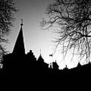 Castle Silhouette Art Print by Semmick Photo