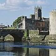 Castles, St Johns Castle, Co Limerick Art Print