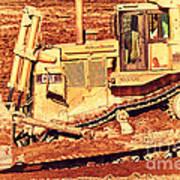 Cat Bulldozer . 7d10945 Art Print