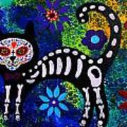 Cat Day Of The Dead Art Print