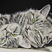 Cat Friends Art Print