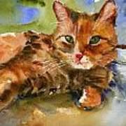 Cat King Art Print