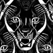 Cat Mask Art Print