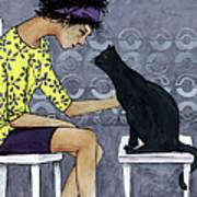 Cat Talk Print by Georgiana Chitac