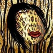 Cat Woman 2 Art Print