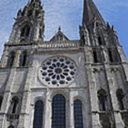 Cathedral At Chartres Art Print