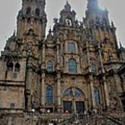 Cathedral At Santiago De Compostela Art Print