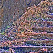 Caution Broken Stairs Art Print