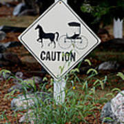 Caution Please Art Print