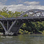 Caveman Bridge With Text Art Print