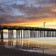 Cayucos Pier Reflected Art Print