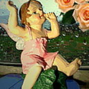 Celebrate The Rain With Roses 2 Art Print