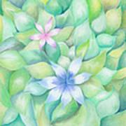 Celtic Flowers Art Print