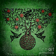Celtic Tree Of Life Print by Sacred  Muse