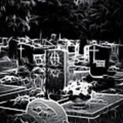 Cemetary At Night Art Print