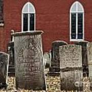 Cemetery And Church Art Print